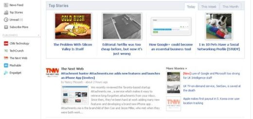 Readings, Lector de news basado en Facebook