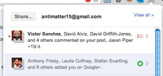 Surplus, las notificaciones de Google+ en Chrome