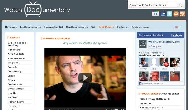 Watch Documentary, directorio con todo tipo de documentales