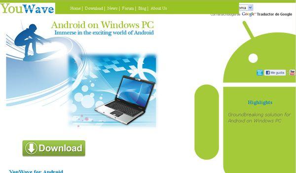 YouWave, emulador para ejecutar aplicaciones y juegos de Android en Windows