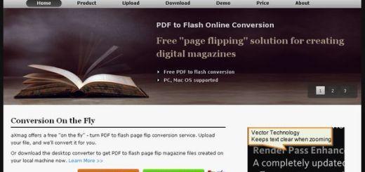 aXmag, convierte un PDF en un magazine digital en flash