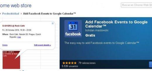 Exporta eventos de Facebook a Google Calendar (Chrome)