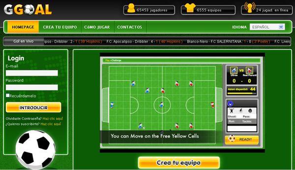 GGoal, juego de fútbol online multijugador de estrategia