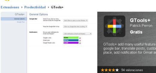 GTools+, nuevo plugin Chrome para personalizar y mejorar Google+