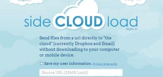 sideCLOUDload, guarda archivos en la nube indicando su url