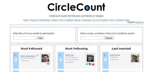 CircleCount: directorio internacional y ranking de usuarios de Google Plus
