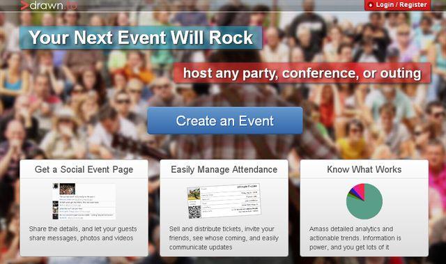 Drawnto Drawn.to, crea la página para difundir un evento en segundos