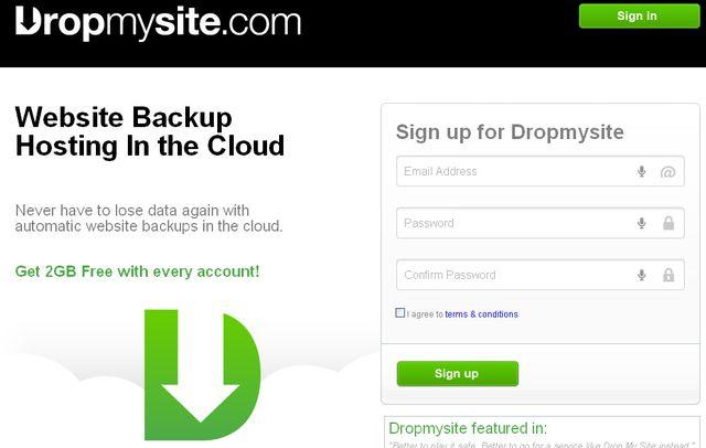 Dropmysite, servicio gratuito para realizar backups automáticos de tu web