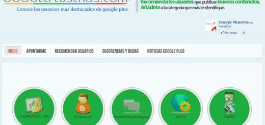 Google Pluseros, directorio de usuarios hispanos recomendados en Google+
