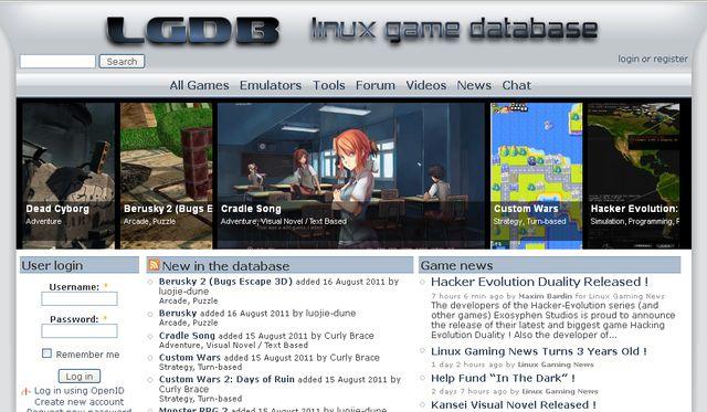 LGDB, directorio de juegos para Linux
