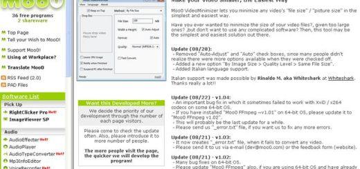 Moo0 VideoMinimizer, sencilla aplicación Windows gratuita para reducir el tamaño de los vídeos