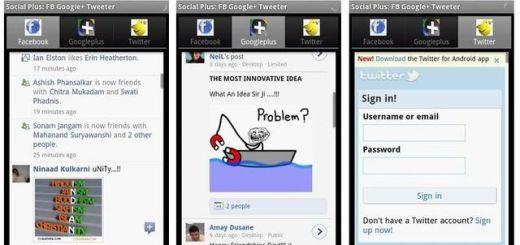 Social Plus, cliente Android gratuito para Twitter, Facebook y Google Plus