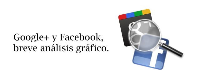 Análisis gráfico de Google+ y Facebook (Infografía)