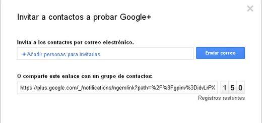 Ahora también podemos invitar a Google+ mediante una url