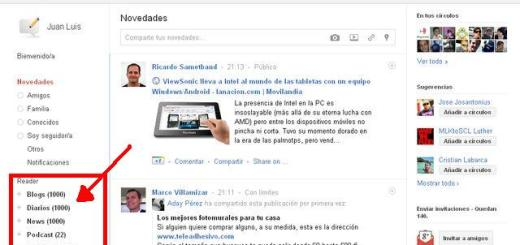 RSS Share for Google Plus, integra Google Reader en Google+ (Chrome)