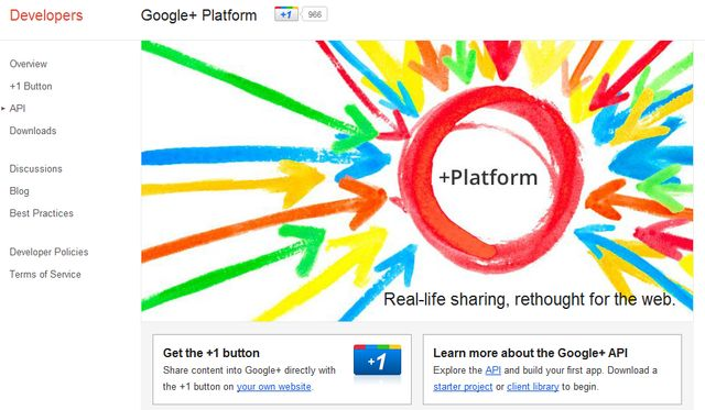 API de Google Plus