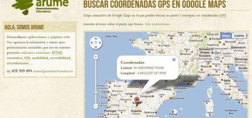 Sencillo mapa interactivo para obtener las coordenadas GPS de cualquier punto