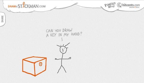 Draw a Stickman, dibuja un monigote que cobrará vida y te invitará a jugar con él