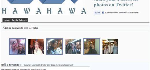 HawaHawa, la forma más sencilla de compartir tus fotos de Facebook en Twitter