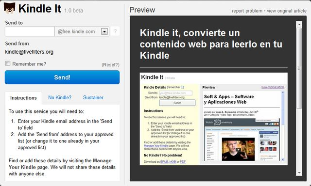 Kindle It for Chrome: envía cualquier contenido web desde tu navegador a Kindle o descárgalo como ePub, Mobi o PDF