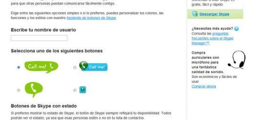 Agrega un botón de Skype a tu blog para comunicarte con tus usuarios