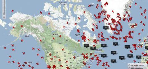 Planefinder, un mapa para realizar el seguimiento de los vuelos a tiempo real