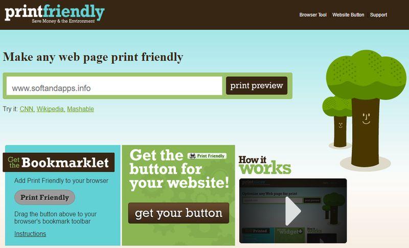Print Friendly: genera la versión imprimible o descarga en PDF cualquier web
