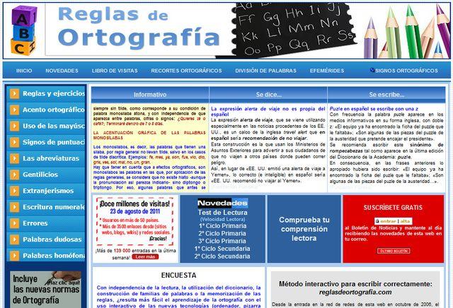 Reglas de Ortografía, portal con todo lo que necesitas conocer para escribir correctamente en español