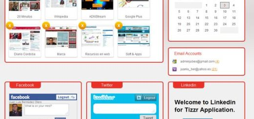 TizzR: página de inicio personalizada con tus correos, redes sociales, sitios favoritos, buscadores y más