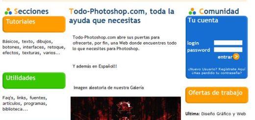 TodoPhotoshop, tutoriales y recursos para trabajar con Photoshop