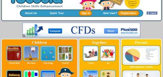 Tucoola, portal con juegos educativos para niños de 2 a 8 años
