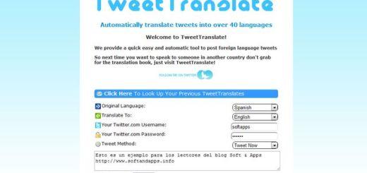 Tweet Translate, publica tweets en cualquiera de más 40 idiomas
