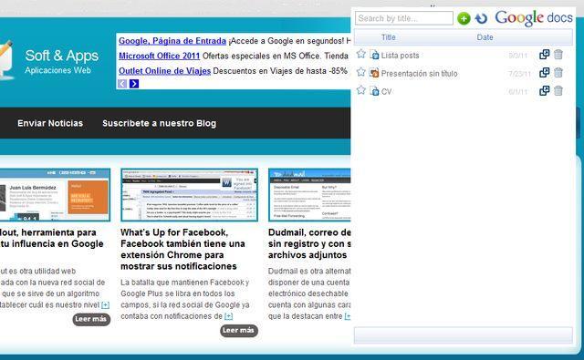 Visor de Google Docs, plugin para Chrome que permite trabajar offline en Google Docs