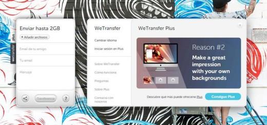 WeTransfer: envía gratis y sin registro archivos de hasta 2 Gb