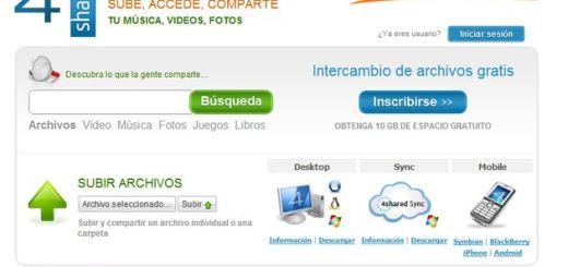 4shared, 10 Gb gratuitos para almacenar y compartir archivos