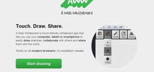AWW, pizarra virtual para realizar esquemas y bocetos de forma individual o colaborativa