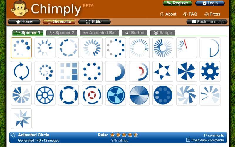 Chimply: genial generador online de gráficos para tu web
