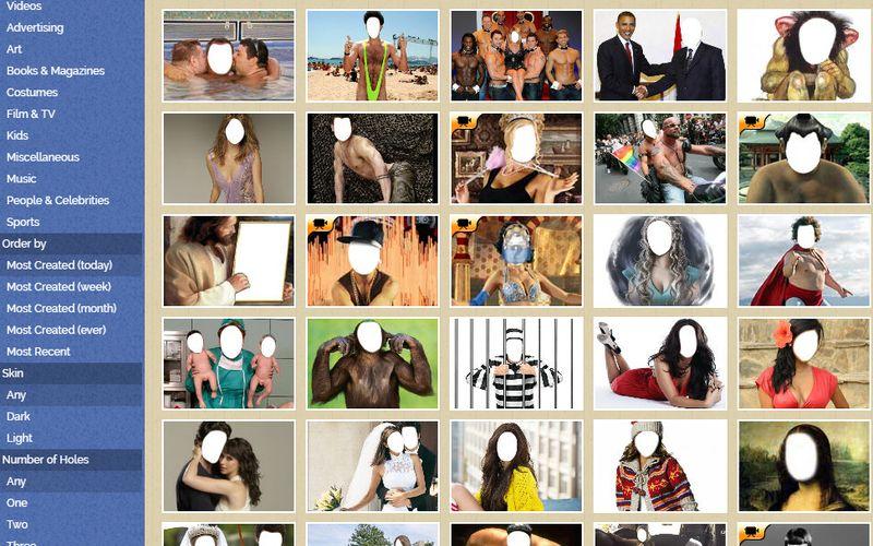 Cientos de miles de Plantillas en FaceinHole FaceinHole: más de 200000 plantillas para crear divertidos fotomontajes