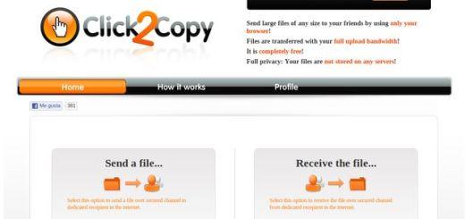 Click2Copy, aplicación web para enviar archivos pesados de un PC a otro