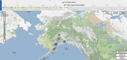 Live Earthquake Mashup, un mapa mundial para el seguimiento de terremotos