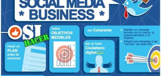 Práctica infografía con consejos sobre que se debe hacer o no hacer en social media