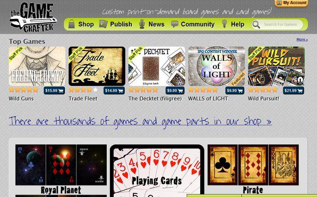 The Game Crafter, crea juegos de mesa o de cartas y véndelos online