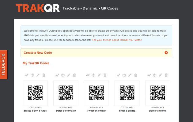 TrakQR, generador de códigos QR dinámicos con estadísticas
