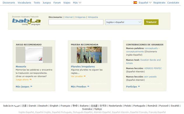 Babla Portal Lingüístico Con Traductores Online
