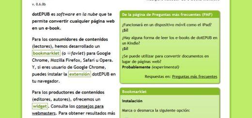 dotEPUB, convierte cualquier web a ePub o inserta un widget en tu blog para que puedan descargar tus artículos en este formato