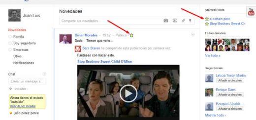 Circlestar for Google+, extensión Chrome para guardar publicaciones de Google+ y leerlas posteriormente
