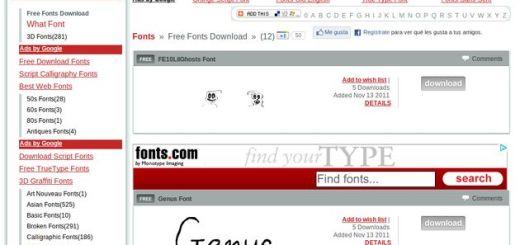 FFONTS, muchas miles de fuentes de texto gratuitas para descargar