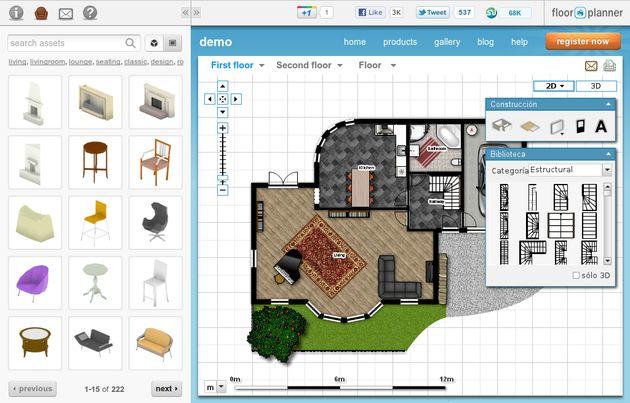 Floorplanner utilidad web gratuita para dise ar tus for Programa planos online