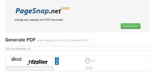 PageSnap, convierte cualquier blog o web en un documento PDF