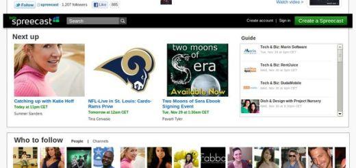 Spreecast: crea tu canal para transmitir vídeo y/o audio en streaming o diferido